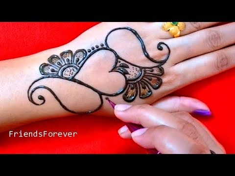 So Amazing Heart Henna Design | Very beautiful mehndi designs for hand | 2019