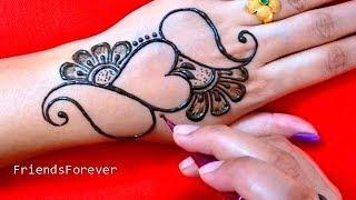 So Amazing Heart Henna Design   Very beautiful mehndi designs for hand   2019