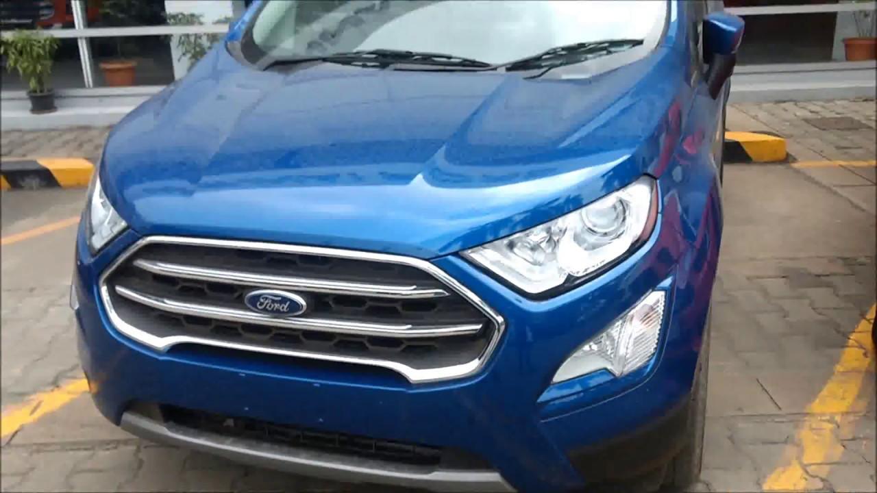 2018 Ford Lightning >> New Ford EcoSport Lightning Blue Color Titanium Plus First ...