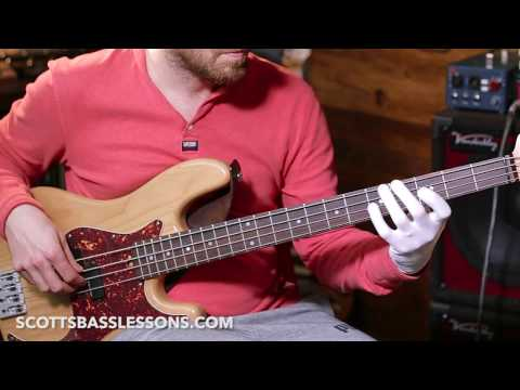 Funky Joe Dart Style Groove (with some twists of my own!)    Quick Riff    Scott's Bass Lessons