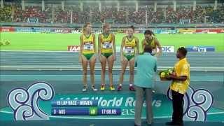 4 x 1500m W Kenya WR 16:33.58 / Australia AR 17:08.65
