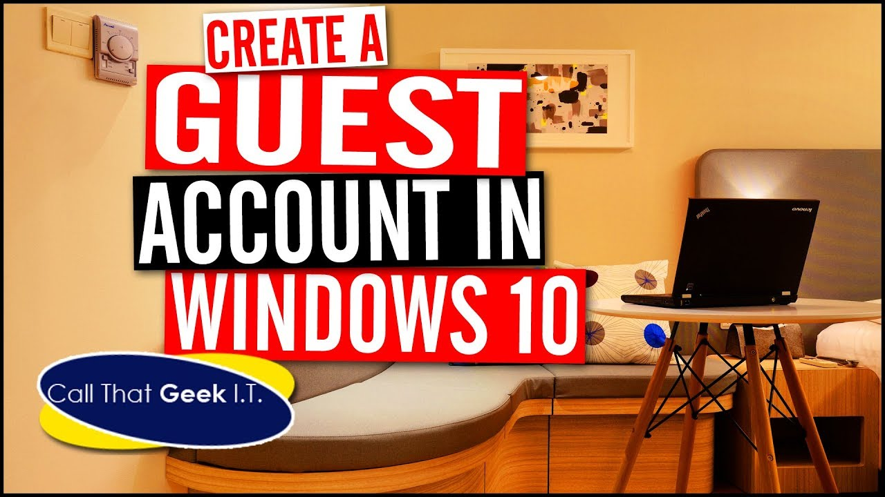 how to make guest account on windows 10