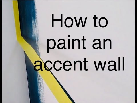 The BEST way to PAINT an ACCENT wall