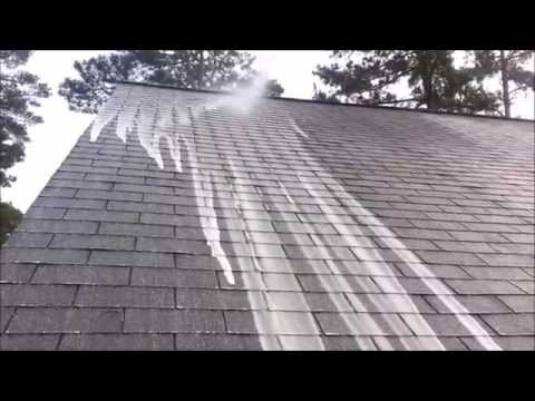 removing-algae-from-asphalt-roof-|-non-pressure-roof-cleaning-|-clean-pro-exteriors