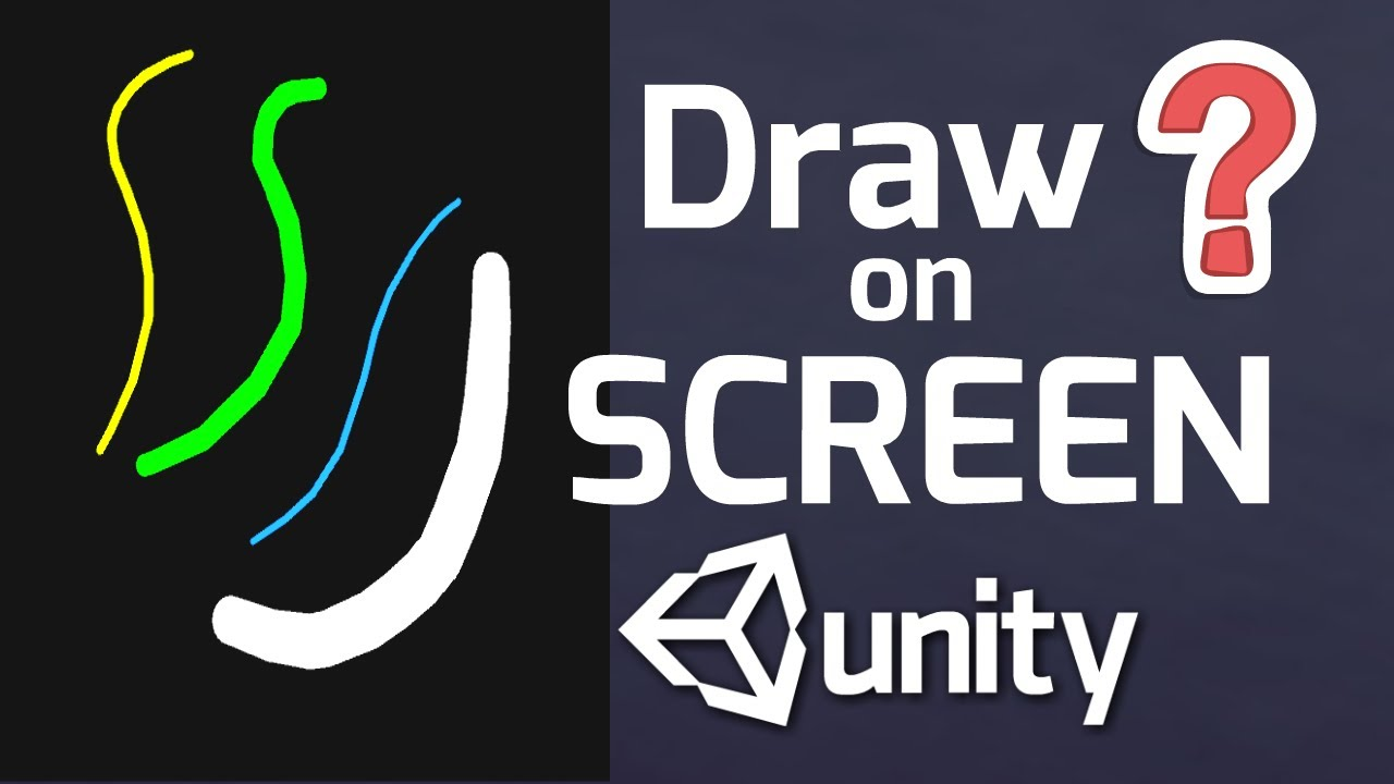 Unity Drawing Game - Drawing on the screen with Unity