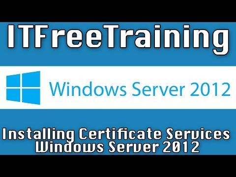 Installing Enterprise CA for AD FS on Windows Server 2012