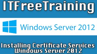 Installing Enterprise CA for AD FS on Windows Server 2012