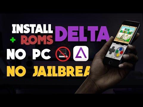 Install DELTA Emulator GBA & SNES Games FREE iOS 9 - 10 NO PC NO Jailbreak