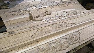 Резная кровать из ореха часть 1 резьба по дереву