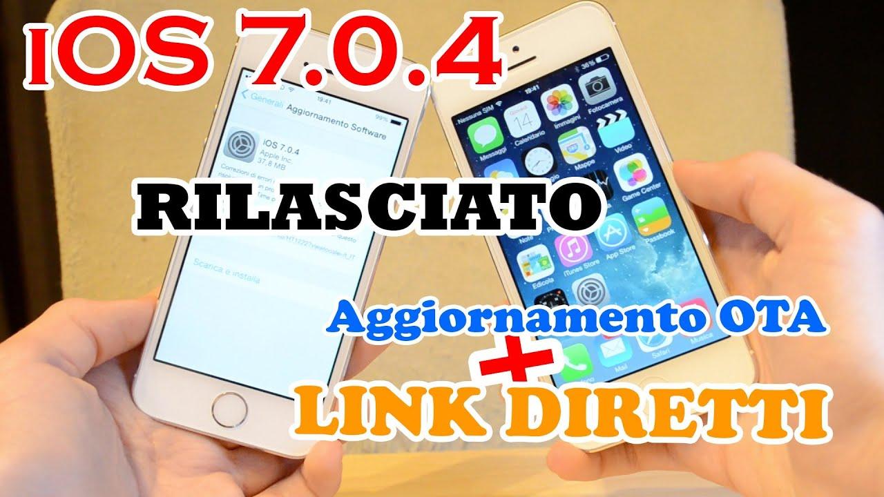 AGGIORNAMENTO IOS 7.0.4 SCARICA