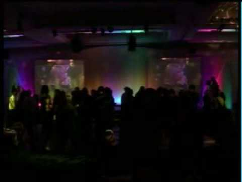 DVD Disco with conference - using two large screens