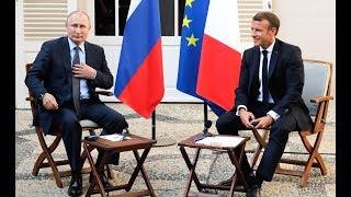 Пресс-конференция Путина и Макрона