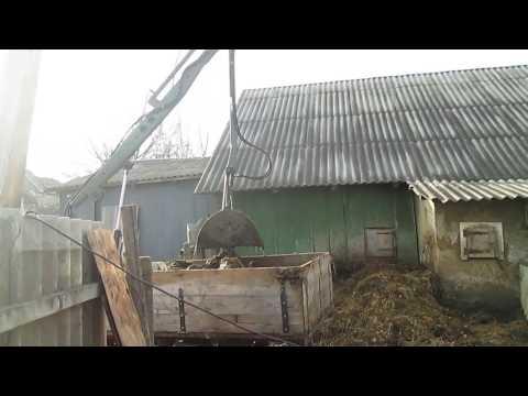 Самодельный мини трактор -первые испытания мини грейфера.