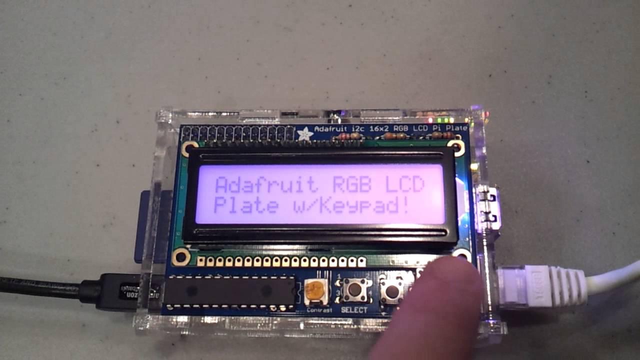 Adafruit RGB LCD + Keypad Pi Plate: button demo