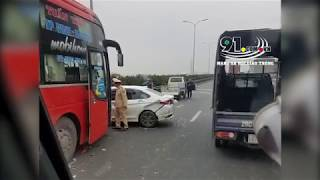 Xe khách chạy ẩu gây tai nạn liên hoàn trên cao tốc Pháp Vân - Cầu Giẽ