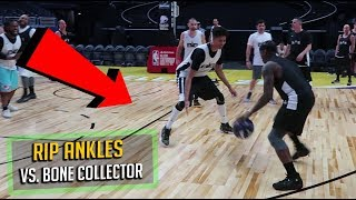 CRAZY 5v5 vs. Streetball LEGEND Bone Collector on NBA All-Star Weekend Court!