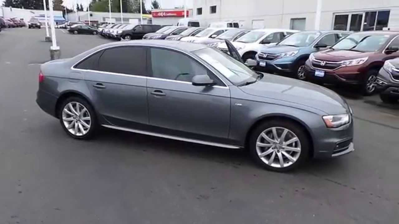 2014 Audi A4 Daytona Gray Stock 31360a Walk Around