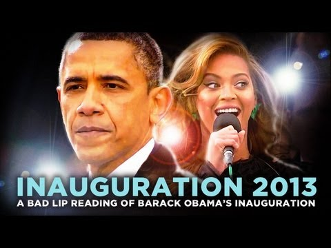 "Thumbnail: ""Inauguration 2013: A Bad Lip Reading: — A Bad Lip Reading of Barack Obama's Inauguration"