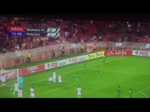 Goli la Abdi Banda Baroka F.C. 1-1 Orlando Pirates | PSL |