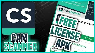 [Latest]CamScanner Licence 🔓 App For Free
