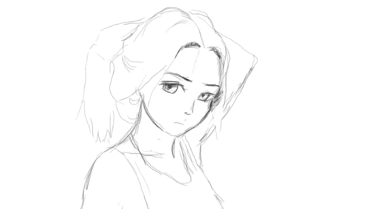 Draw anime girl face