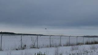 2 Finnish F/A-18C Hornets taking off at Oulu EFOU