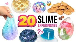 20 DIY SCHLEIM Experimente!!! Verrückte Sachen in SLIME MISCHEN! 😱 Schleim Spiel Deutsch German