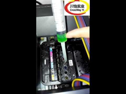 UV Printer Printhead clean  - How to Clean UV Printer Epson R1390 R1400Printhead