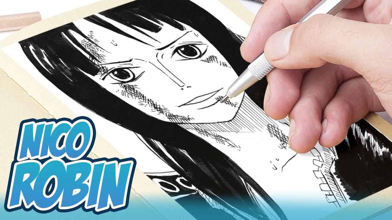 Speed Drawing: Nico Robin (One Piece) - YouTube