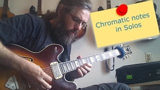Chromatic notes in solos part 1
