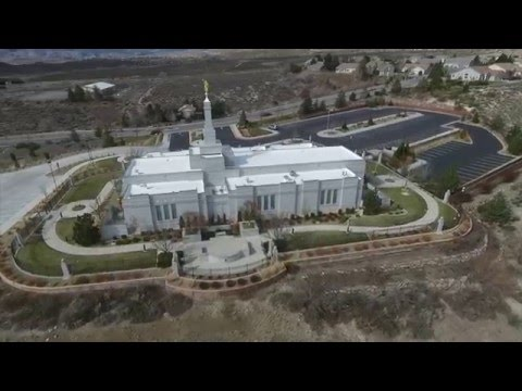 Aerial views of the Reno, NV LDS Temple