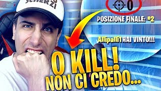 won with 0 KILL ... I missed this ... Fortnite Battle Royale ITA!