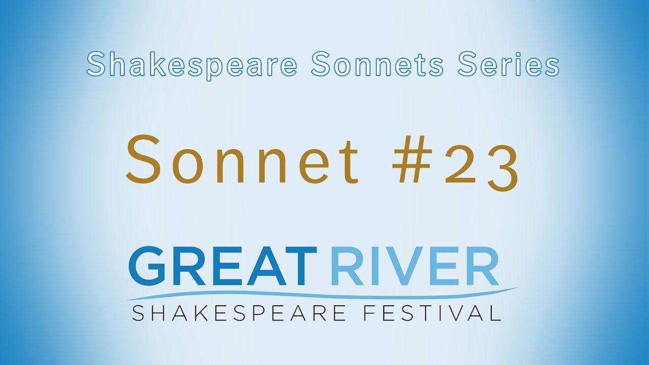 shakespeare sonnet 23