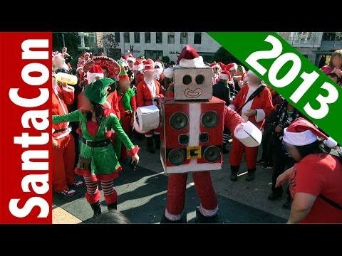 SantaCon 2013 San Francisco Union Square and Polk Street (compilation)