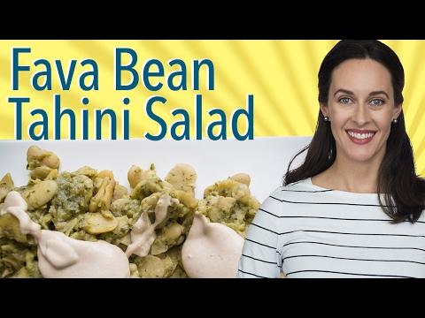 Fava Beans with Tahini: Recipe Demo of Broad Beans & Tahini Dressing