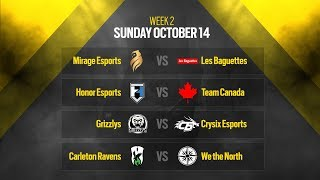 Rainbow Six Siege: LIVESTREAM Canadian Nationals Online Circuit 2 | Week 2 - Day 2 | Ubisoft [NA]