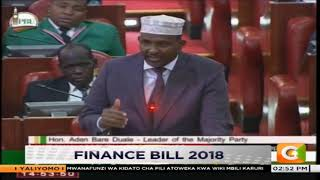 Hon. Duale: I am not here as a member of CCO who you could intimidate #FinaceBill2018