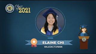 Class of 2021 - Elaine Chi's speech