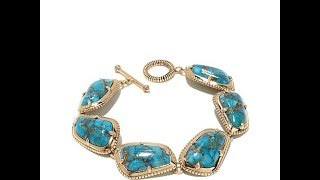 Studio Barse Turquoise Metal Matrix Statement Ring