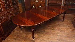 Mahogany Victorian Dining Table Extending Tables
