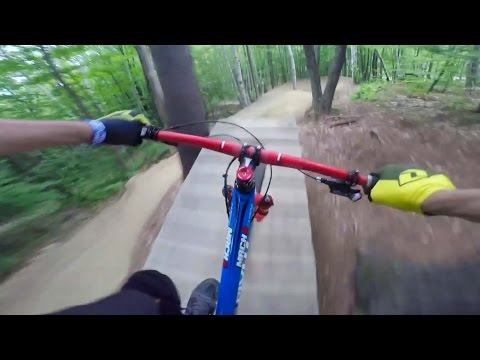 Tree Backflips and Highland MTB Park Trail Riding: GoPro View   Through My Eyes w/ Aaron Chase