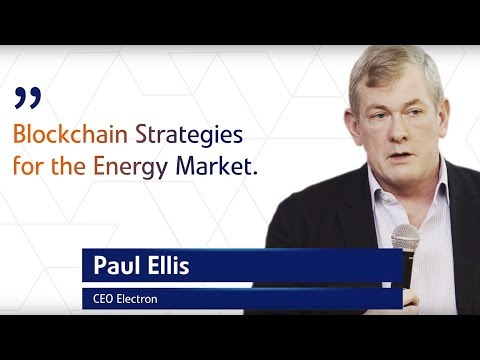 Paul Ellis of Electron at Blockchain in Energy - Conference