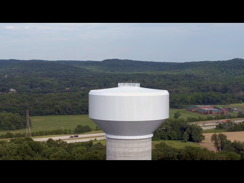 Lebanon Junction ky water tower and bernheim middle school (drone footage)
