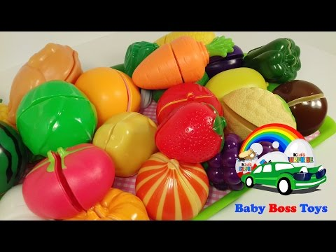 Velcro Fruits Vegetables Berries in Eng & Rus. Фрукты Овощи Ягоды на Рус и Анг