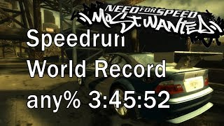 Need For Speed Most Wanted Speedrun - World Record any% 3:45:52