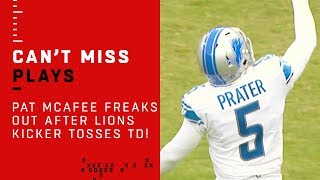 Pat McAfee FREAKS OUT After Lions Kicker Tosses TD!