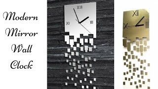 Modern Mirror Wall Clock Recreation| Quick and Easy Wall Clock!
