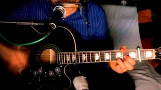 Beautiful Girl ~ INXS ~ Acoustic Cover w/ Epiphone EJ-200CE BK & Bluesharp