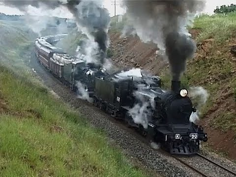 Steam Train Struggles On 1 In 48 Grade. SRV Robinvale Weekender: Australian Trains