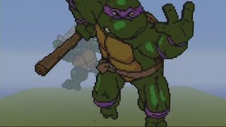 TMNT MC SPEED BUILD PIXEL ART - DONATELLO  MINECRAFT Pixel Art